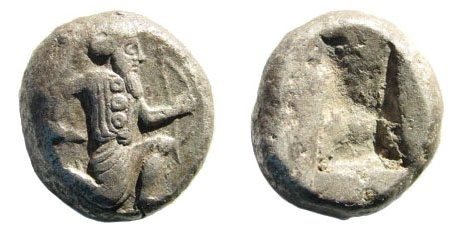 Ancient Coins - Achaemenid Kings. Circa 375-340 BC. AR Siglos (5.55 gm, 15mm). Carradice, Taf. XV, 46