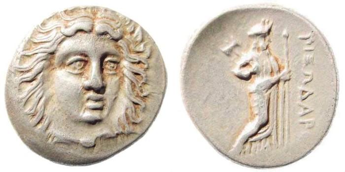 Ancient Coins - Satraps of Karia. Pixodaros, 340-334 BC. AR Didrachm (6.95 gm, 20mm). SNG Copenhagen 597