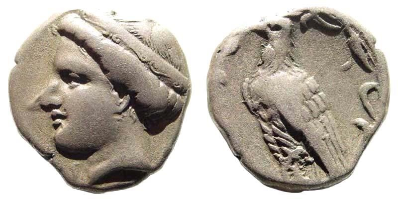 Ancient Coins - Elis, Olympia. 110th Olympiad. 340 BC. AR Stater (11.76 gm, 24mm). Hera mint. BMC 133 (same dies); Jameson 1243 (same dies). Very rare
