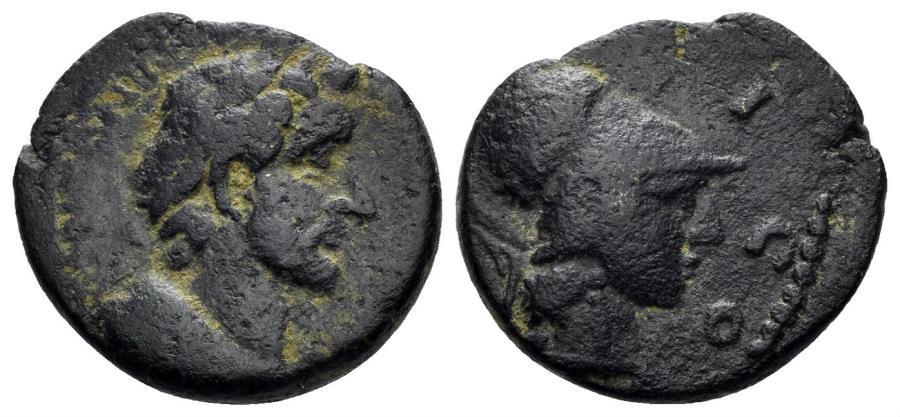 Ancient Coins - Lykaonia, Eikonion. Antoninus Pius 138-161 AD. AE 18mm (3.88 gm). Lindgren/ Kovacs 1378