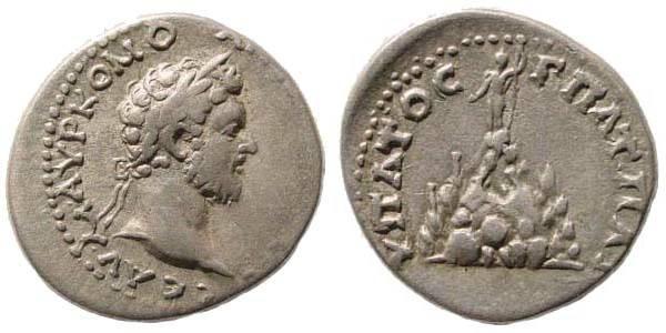 Ancient Coins - Cappadocia, Caesarea, Commodus, 177-192, AR Didrachm (4.22 gm.12h). Cf. Sydenham 367