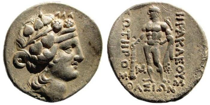 Ancient Coins - Thrace, Islands off. Thasos. After 148 BC. AR Tetradrachm (16.88 gm). SNG Copenhagen 1040