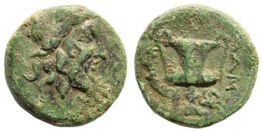 Ancient Coins - Mysia, Lampsakos. 190-85 BC. AE 17mm (5.00 gm). SNG BN Paris 1249