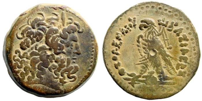 Ancient Coins - Ptolemaic Kingdom. Ptolemy IV. 221-205 BC. AE 31mm (21.85 gm). SNG Copenhagen 213-8