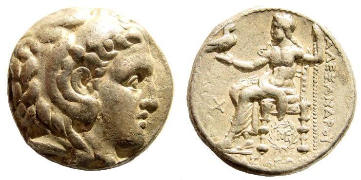 Ancient Coins - Macedonian Kingdom. Alexander III 'the Great'. 336-323 BC. AR Tetradrachm (16.95 gm, 25mm). Babylon mint. Struck under Peithon, circa 315-311 BC. Price 3726