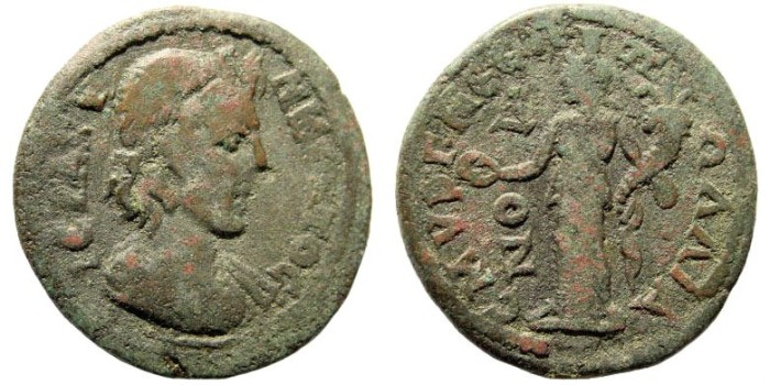Ancient Coins - Ionia, Smyrna. Time of Gordian III, 238-244 AD. AE 27mm (8.41 gm). Pollianos magistrate. SNG Copenhagen 1315 (same dies)