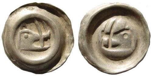 Ancient Coins - Medieval Germany, Schweidnitz, under Sigismund. Circa 1400. AR Bracteate (0.21 gm, 15 mm). Saurma 212/95; Friedensburg 704