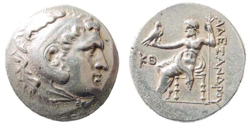 Ancient Coins - Macedonian Kingdom. Alexander III 'the Great'. 336-323 BC. AR Tetradrachm (16.59 gm, 29mm). Perga mint. Civic issue, dated CY 29 (circa 193/2 BC). Price 2943