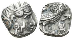 Ancient Coins - Sabaean. Anonymous. 3rd Century BC. AR drachm (5.29 gm, 15mm). Munro Hay-1