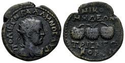 Ancient Coins - Bithynia, Nicomedia. Gallienus, 253-268 AD. AE 23mm (6.98 gm). RG 415