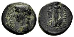 Ancient Coins - Lydia, Sardeis. Germanicus, died 19 AD. AE 14mm (3.20 gm). Mnaseas, magistrate. RPC I 2993
