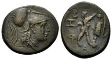 Ancient Coins - Macedonian Kingdom. Antigonos Gonatas, 277-239 BC. AE 20mm (5.88 gm). SNG Copenhagen 1206