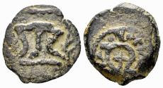 Ancient Coins - Judaea, Herodians. Herod I the Great. 40-4 BC. AE Double Prutah (2.66 gm, 19mm). Meshorer 41