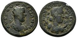 Ancient Coins - Kilikia, Anazarbos. Valerian I. 253-260 AD. AE Triassarion (10.66 gm, 23mm). Dated CY 272 (253/4 AD). Ziegler 815 (Vs2/Rs10)