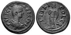 Ancient Coins - Pisidia, Kremna. Geta, as Caesar. 198-209 AD. AE 20mm (5.34 gm). Hans von Aulock, Pisidiens II 1298-1309