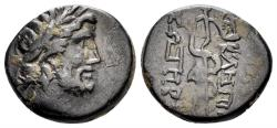 Ancient Coins - Mysia, Pergamon. 133 BC - Imperial Times. AE 16mm (3.17 gm). SNG France 1828