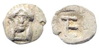 Ancient Coins - Ionia, Kolophon. Circa 500-480 BC. AR Tetartemorion (0.20 gm, 7mm). SNG Kayan 356; Milne, Kolophon (NNM 96), 7