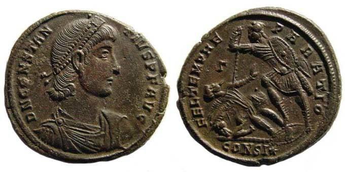 Ancient Coins - Constantius II, Constantinople, AE Centenionalis