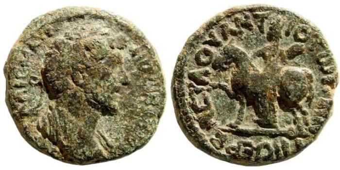 Ancient Coins - Syria, Decapolis. Hippum. Marcus Aurelius. 161-180 AD. AE 23mm (10.47 gm). Spijkerman 9