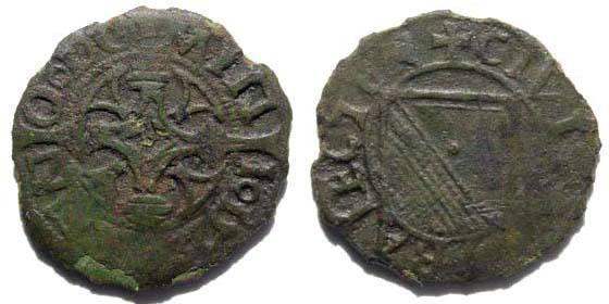 Ancient Coins - Utrecht, City of Utrecht. first half 16th century. AE Mite (1.39 gm)