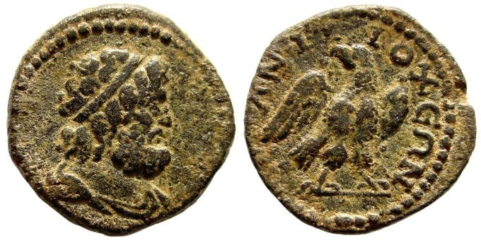 Ancient Coins - Caria, Antioch. Imperial Times, 2nd – 3rd century AD. AE 19mm (3.45 gm). SNG Copenhagen 33