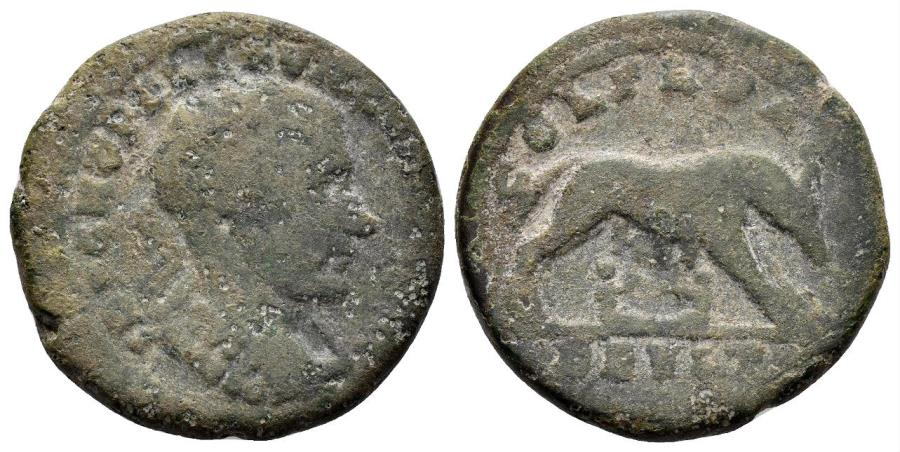 Ancient Coins - Thrace, Deultum. Macrinus. 217-218 AD. AE 24mm (8.56 gm). Varbanov 2157