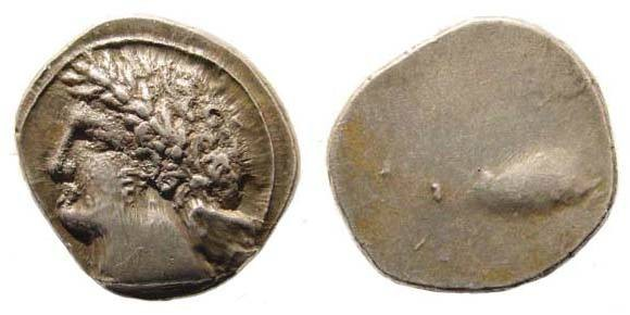 Ancient Coins - Etruria, Populonia. Circa 3rd century BC. AR 10 Asses (4.20 gm) 18.6 mm. SNG ANS 26