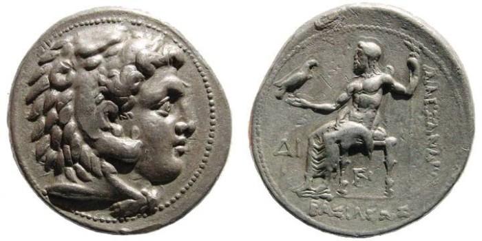 Ancient Coins - Macedonian Kings. Alexander III. 336-323 BC. AR Tetradrachm (17.10 gm). Side mint. Price 2951