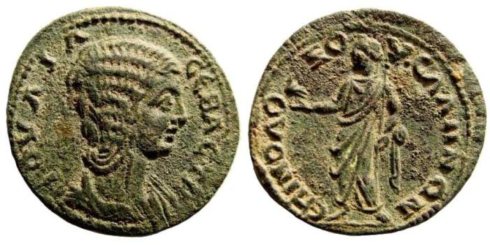 Ancient Coins - Lydia, Sala. Julia Domna, 193-217 AD. AE 26mm (10.48 gm). BMC 44