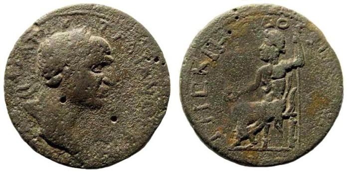 Ancient Coins - Kilikia, Philiadelphia. Trajan, 98-117 AD. AE 28 (11.95 gm). SNG France 759