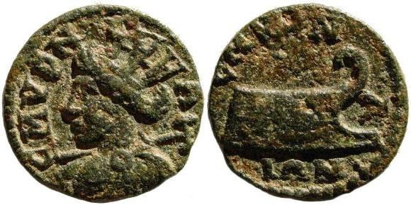 Ancient Coins - Ionia, Smyrna. 3rd century AD. AE 18 mm (2.83 gm). Cf. SNG Copenhagen 1266