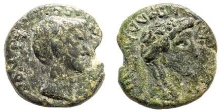Ancient Coins - Aeolis, Temnos. Augustus. 27 BC – 14 AD. AE 16mm (3.03 gm). RPC I, 2447. Rare