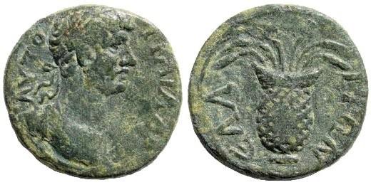 Ancient Coins - Aeolis, Elaea. Hadrian. 117-138 AD. AE 15 mm (2.71 gm.). SNG Copenhagen 194