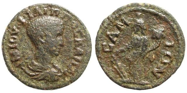 Ancient Coins - Ionia, Island Samos. Philip II, as Caesar, 244-247 AD. AE 22mm (5.99 gm). SNG Copenhagen 1773