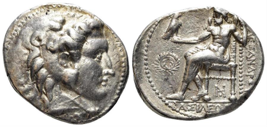 Ancient Coins - Macedonian Kingdom. Philip III Arrhidaios. 323-317 BC. AR Tetradrachm (17.18 gm, 27mm). Price 3570