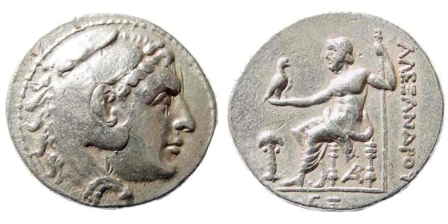 Ancient Coins - Macedonian Kingdom. Alexander III 'the Great', 336-323 BC. AR Tetradrachm (17.00 gm, 31mm). Dated CY 65 (195/4 BC). Phoenicia, Arados mint. Price 3398