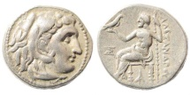 Ancient Coins - Macedonian Kingdom, Alexander III, 336-323 BC, AR Drachm (4.23 gm, 17mm). Magnesia mint. Antigonos I, 320-306/5 BC. Price 1970