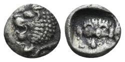 Ancient Coins - Karian Satraps. Hekatomnos. Circa 392/1-377/6 BC. AR Hemiobol (0.52 gm, 8mm). Klein 506