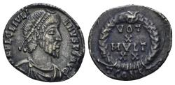 Ancient Coins - Julian II. 360-363 AD. AR Siliqua (2.24 gm, 17mm). Arelate (Arles) mint. Somerset Hoard