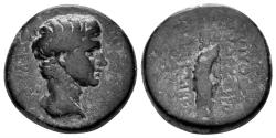 Ancient Coins - Phrygia, Laodikeia ad Lycum. Tiberius. 14-37 AD. AE 19mm (6.17 gm). Pythes Python magistrate. RPC I 2908
