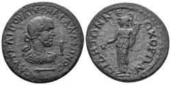 Ancient Coins - Pamphylia, Side. Gallienus. 253-268 AD. AE 28mm / 10 Assaria (14.78 gm). SNG BN 896 (same reverse die)