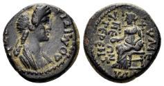 Ancient Coins - Phrygia, Eumeneia. Domitia, 81-96 AD. AE 15mm (2.47 gm). RPC II 1388. Rare