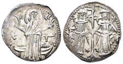 World Coins - Bulgaria. Ivan Alexander with his son Michael. 1331-1371. AR Grosch (1.44 gm, 21mm). Youroukova 71