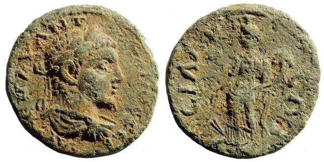 Ancient Coins - Pamphylia, Sillyum. Caracalla, 198-217 AD. AE 24mm (8.30 gm). Lindgren/ Kovacs 1184