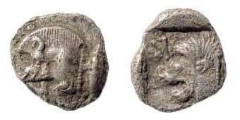 Ancient Coins - Mysia, Kyzikos, ca. 510-475 BC, AR (0.77 gm.). SNG France 380