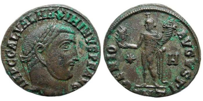 Ancient Coins - Maximinus II. 310-313 AD. AE Follis (20mm, 4.22 gm, 12h). Antioch mint, officina H. Struck 312 AD. RIC VI 164b