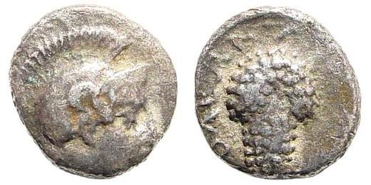 Ancient Coins - Cilicia, Soloi. Circa 385-350 BC. AR Obol (0.68 gm, 9mm). SNG BN Paris 185