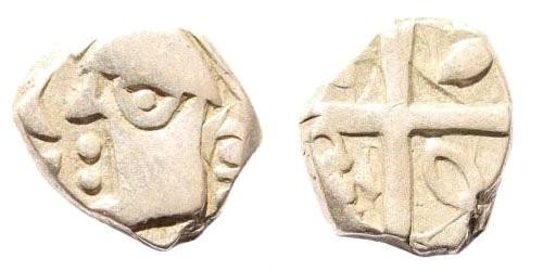 Ancient Coins - Southwestern France. Tolosates, Volcae Tectosages, Monnaies à la croix. Later 2nd century BC. AR Drachm (2.66 gm, 13mm). de la Tour 3104