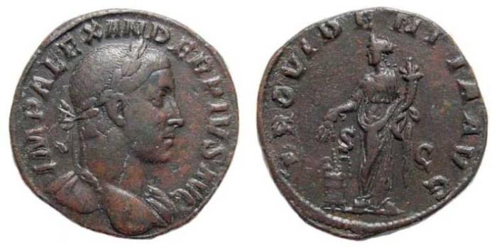 Ancient Coins - Severus Alexander. 222-235 AD. Æ Sestertius (29mm, 20.62 gm). Struck 232 AD. RIC IV 642; BMCRE 882; Cohen 503