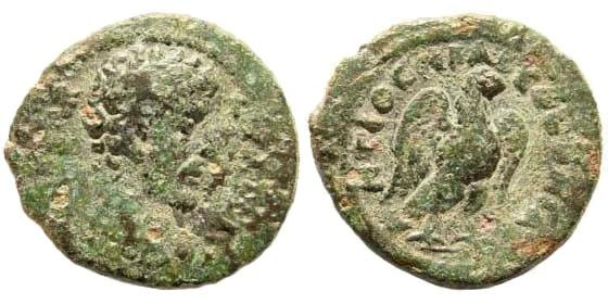 Ancient Coins - Pisidia, Antioch. Marcus Aurelius, 161-180 AD. AE 20mm (3.36 gm). BMC 177, 9. Ex Karbach collection